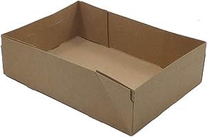 24 Kraft Paperboard Food & Drink Stadium Theater Tray Carrier Holders