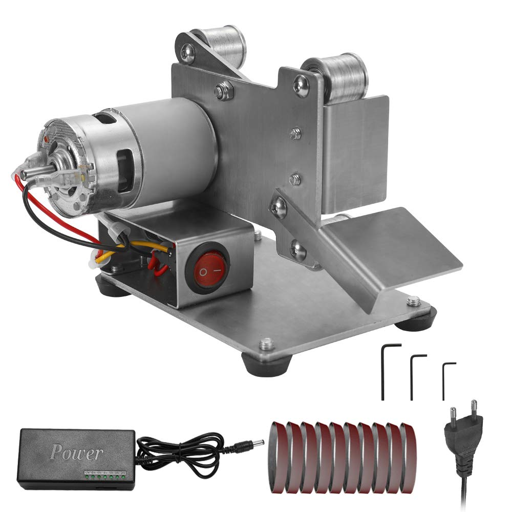Amoladora multifuncional mini lijadora de correa el/éctrica bricolaje pulido m/áquina de molienda cortador bordes bordes