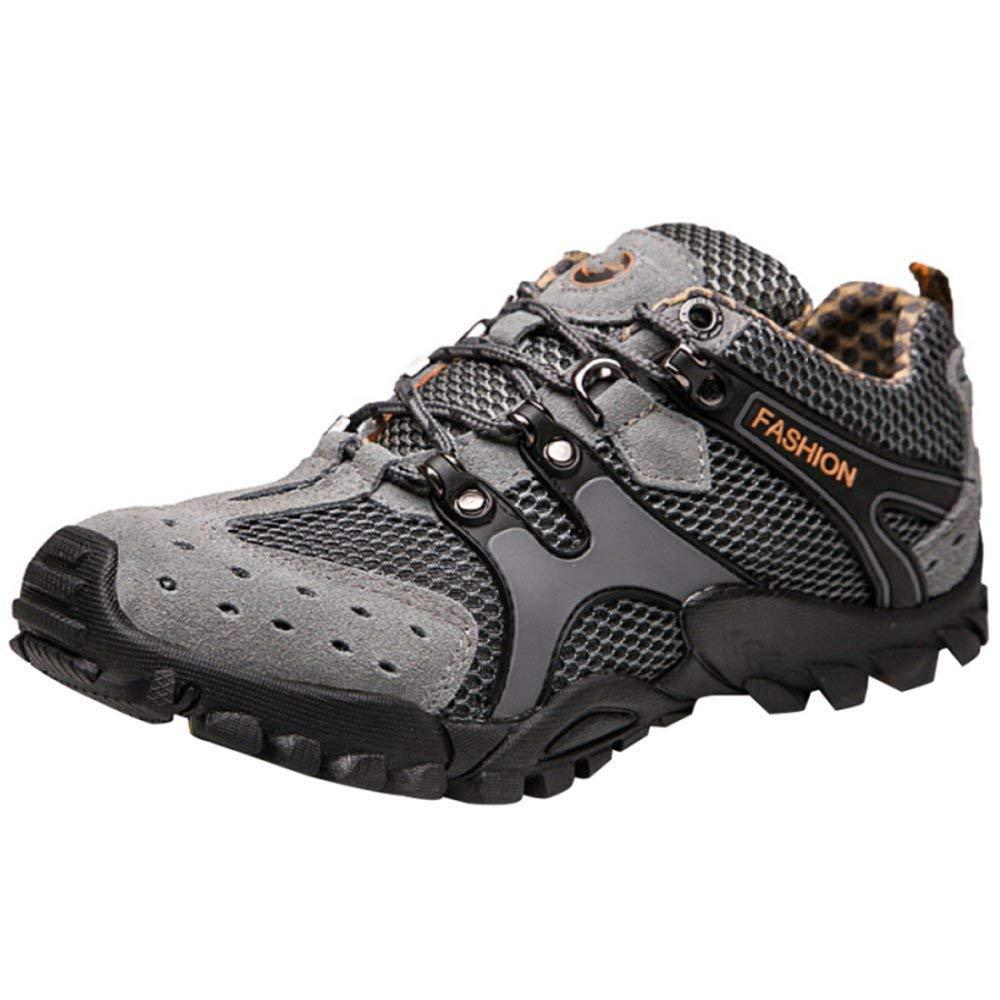 HhGold Männer Sportschuhe Outdoor-Kletterschuhe Klettern Schuhe Casual Sportschuhe Männer Wasser Schuhe Mesh Atmungsaktiv Schnell Trocknend River schuhe (Farbe   Grau, Größe   44EU) b120e9