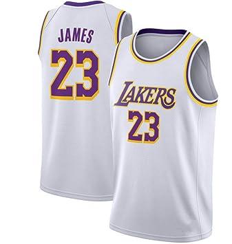 CRBsports Lebron James, Jersey De Baloncesto, Lakers, Edición Clásica, Tela Bordada,