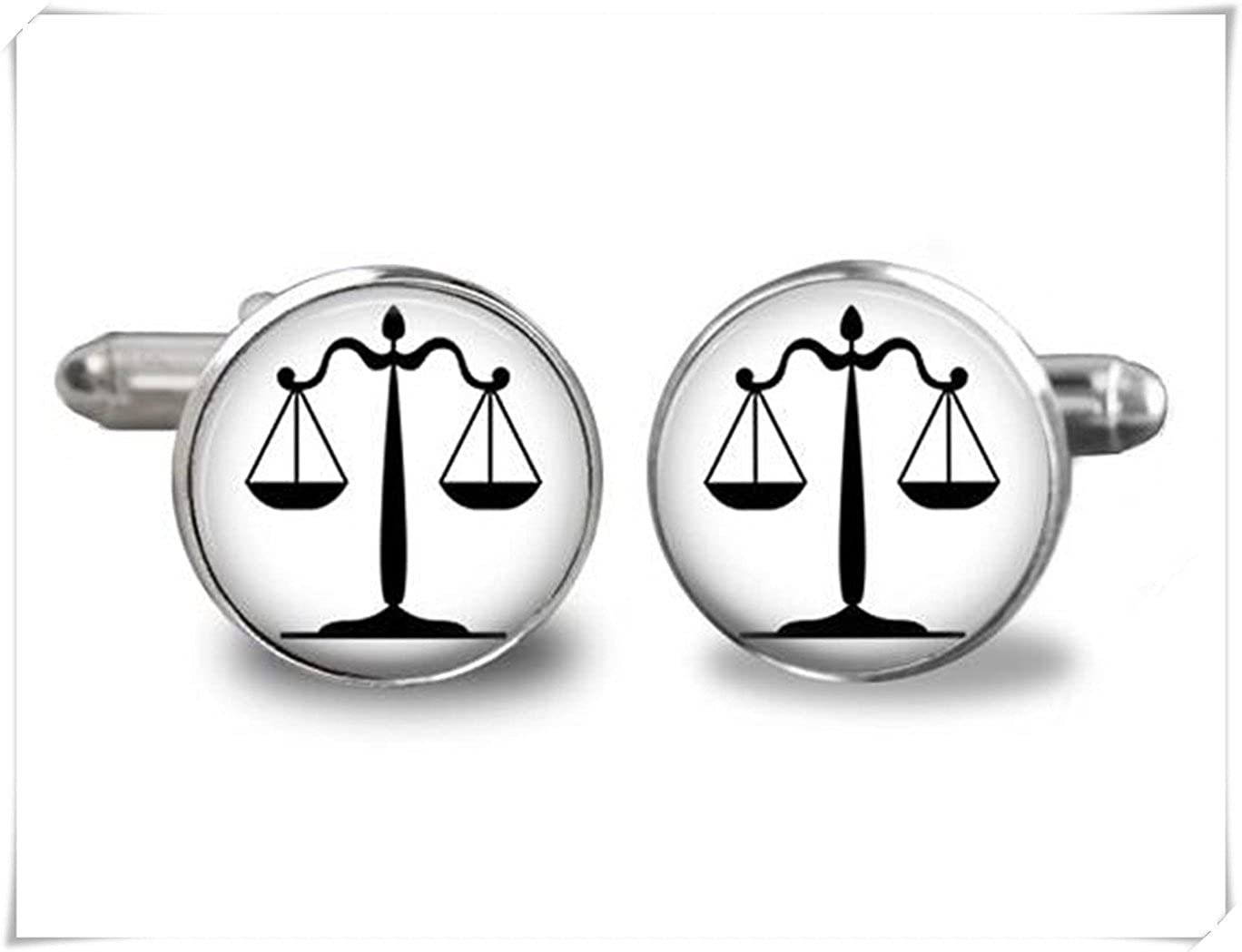 Personalized Justice Symbols Mens Cufflinks CX28