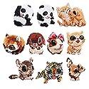 スパンコール刺繍ワッペン 超キュート ちいさなどうぶつ刺しゅう ワッペン 動物 10枚セットの商品画像