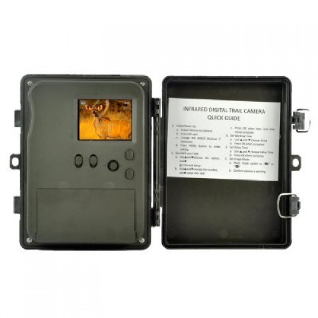 Dreamyth HT-002LIG 5MP Dual PIR HD Digital Infrared Trail Hunting Camera 2.5-inch LCD Durable (Army green)