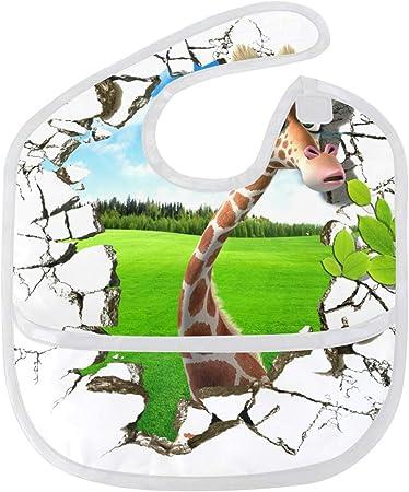 Delziro babero para bebé con diseño de jirafa en 3D ...