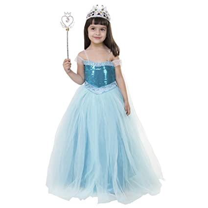 Samsara Souture Baby Girl's Birthday Party Wear A-Line Princess Frozen Gown Dress (Size-1 to 10 yrs) Girls' Dresses & Jumpsuits at amazon