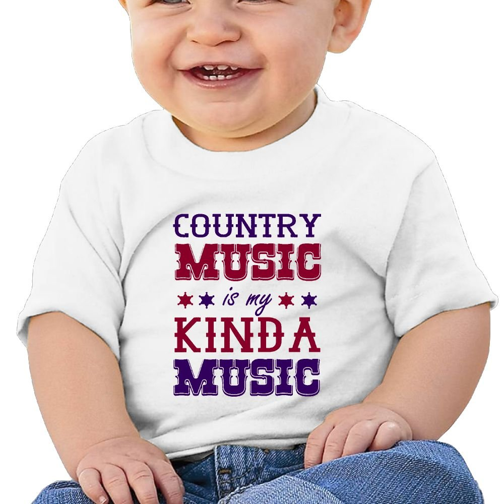 Country Music is My Kind Music Cotton Short Sleeve T Shirts for Baby Toddler Infant