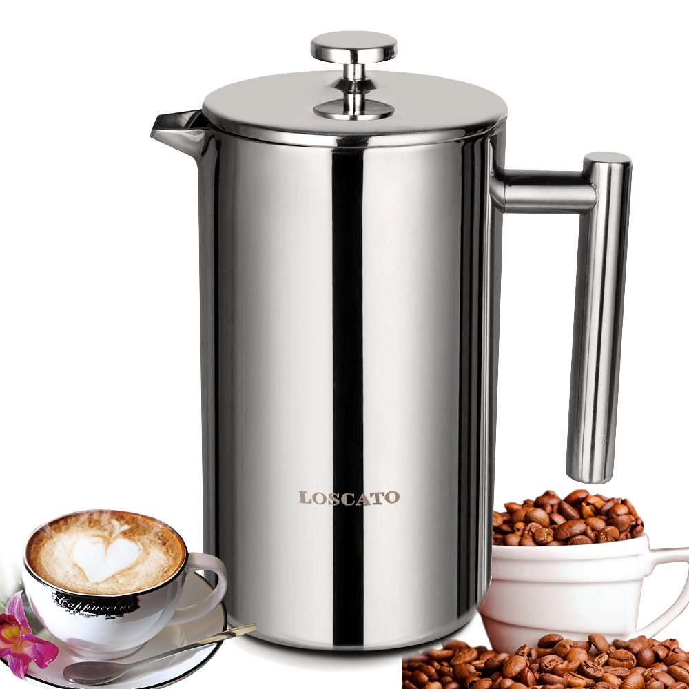 LOSCATO 34OZ Double Wall Stainless Steel French Press Coffee Maker (1L) by LOSCATO (Image #8)