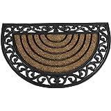 Siena Garden 548191 Impalla Paillasson en caoutchouc semi-circulaire 45 x 75 cm