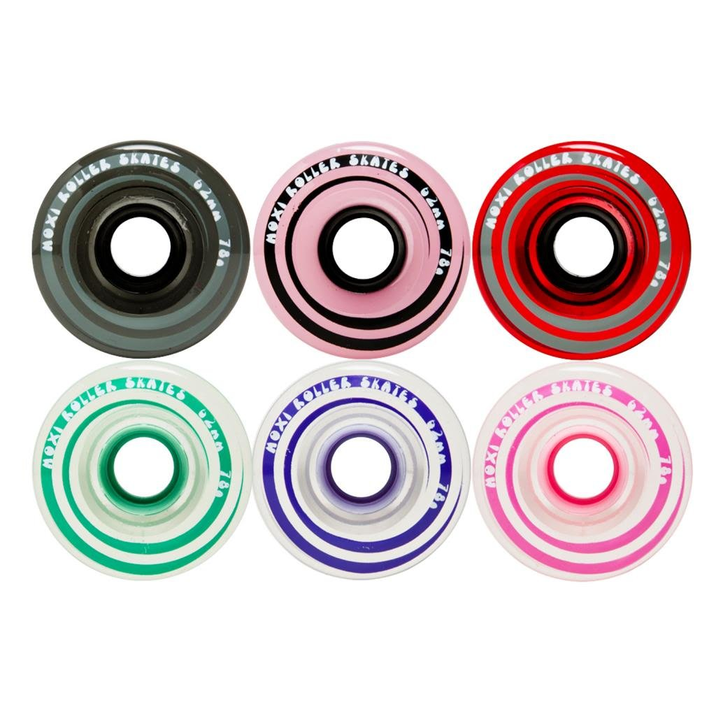 Moxi Skates - Gummy - Outdoor Roller Skate Wheels - 4 Pack of 40mm x 65mm 78A Wheels | Pink by Moxi