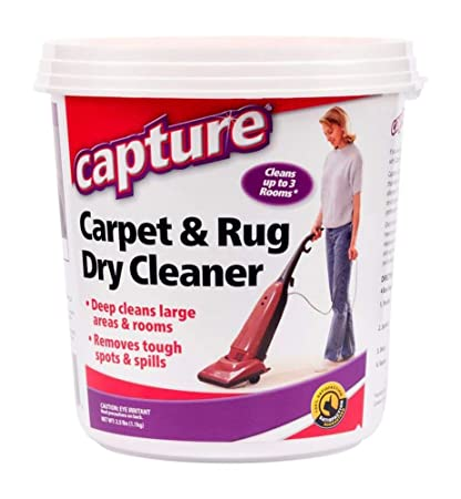 Capture Carpet Dry Cleaner Powder 2.5 Pound - Resolve Allergens Stain Smell Moisture from Rug Furniture