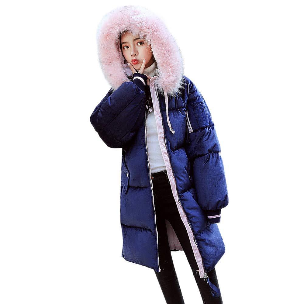 Btruely Oberbekleidung Damen Groß Größe Mäntel Winter Jacke Lange Freizeitjacke Frauen Winterparker mit Kapuze Baumwollmantel Cord Kapuzenjacke Mode Mantel