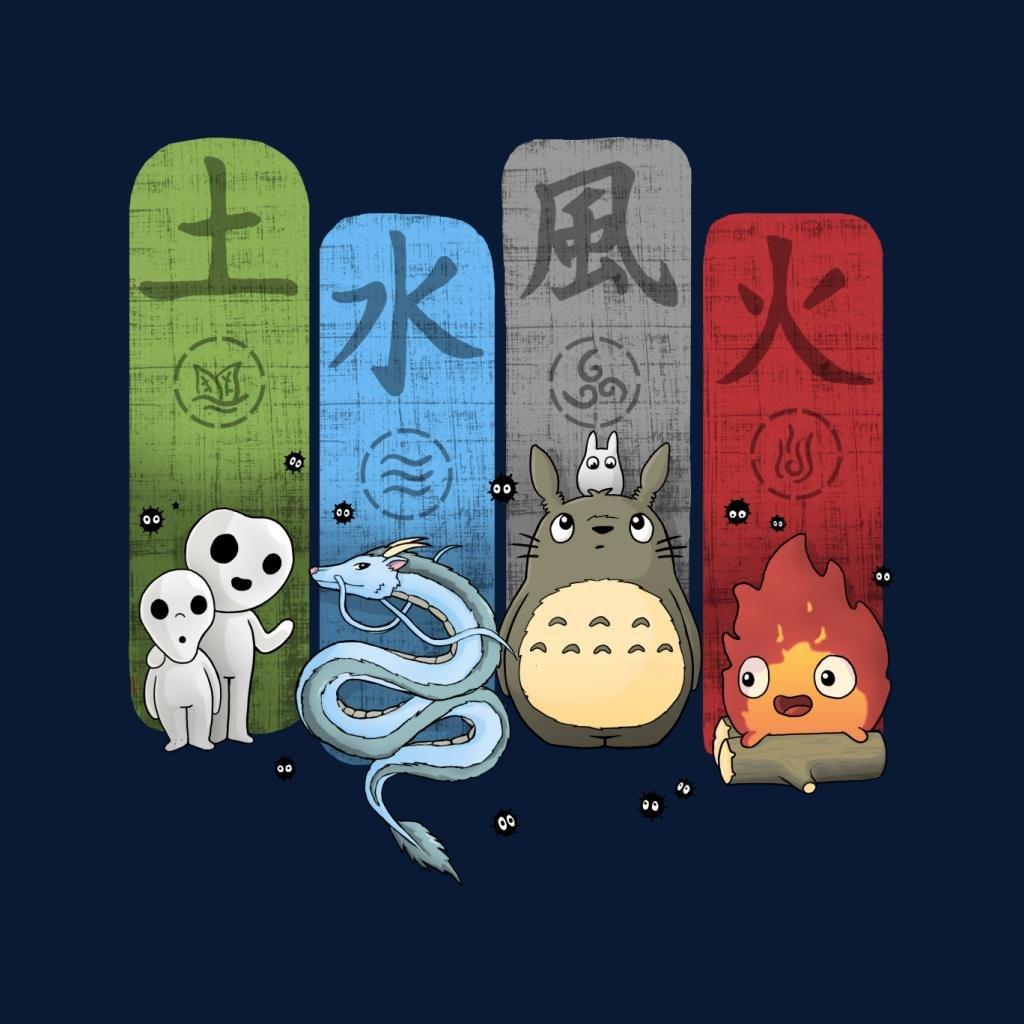 Studio Ghibli Elemental Cute Charms Womens Vest