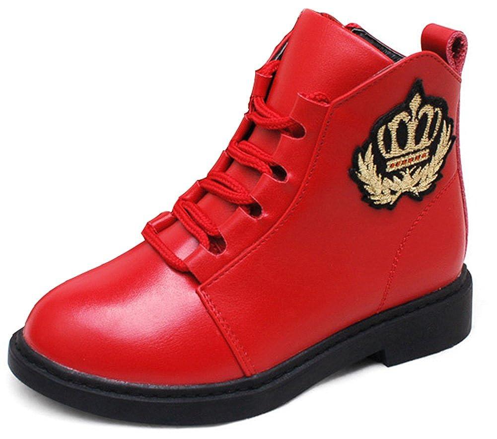 SFNLD InStar Kids Fleeced Ankle High Antiskid Boots with Side Zipper