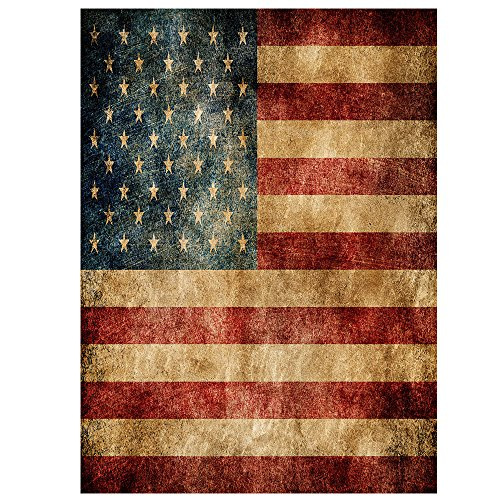 ALAZA 12x18 IN Polyester Double Sided Garden Flag Vintage Am