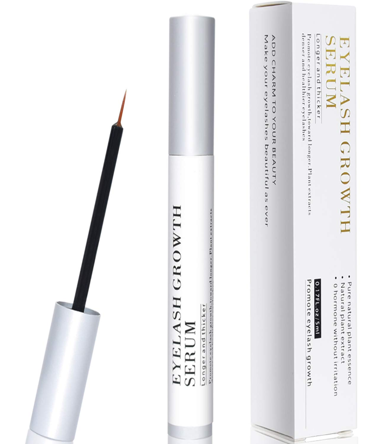 Eyelash Growth Serum, Eyebrow Booster Natural Lavish Lash Enhancer, Rapid Brow Lashes Growing Treatment for Long Thick Looking Fuller Lashes and Brows Women Girls