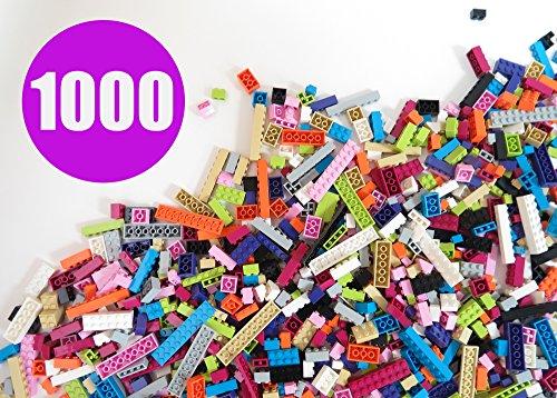 Building Bricks - Pastel Colors - 1,000 Pieces Classic Bricks - Compatible with All Major Brands