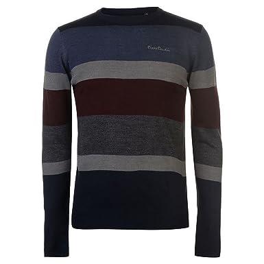 9e6d7092dc9 Pierre Cardin Mens New Season Bold Striped Crew Neck Knitted Jumper