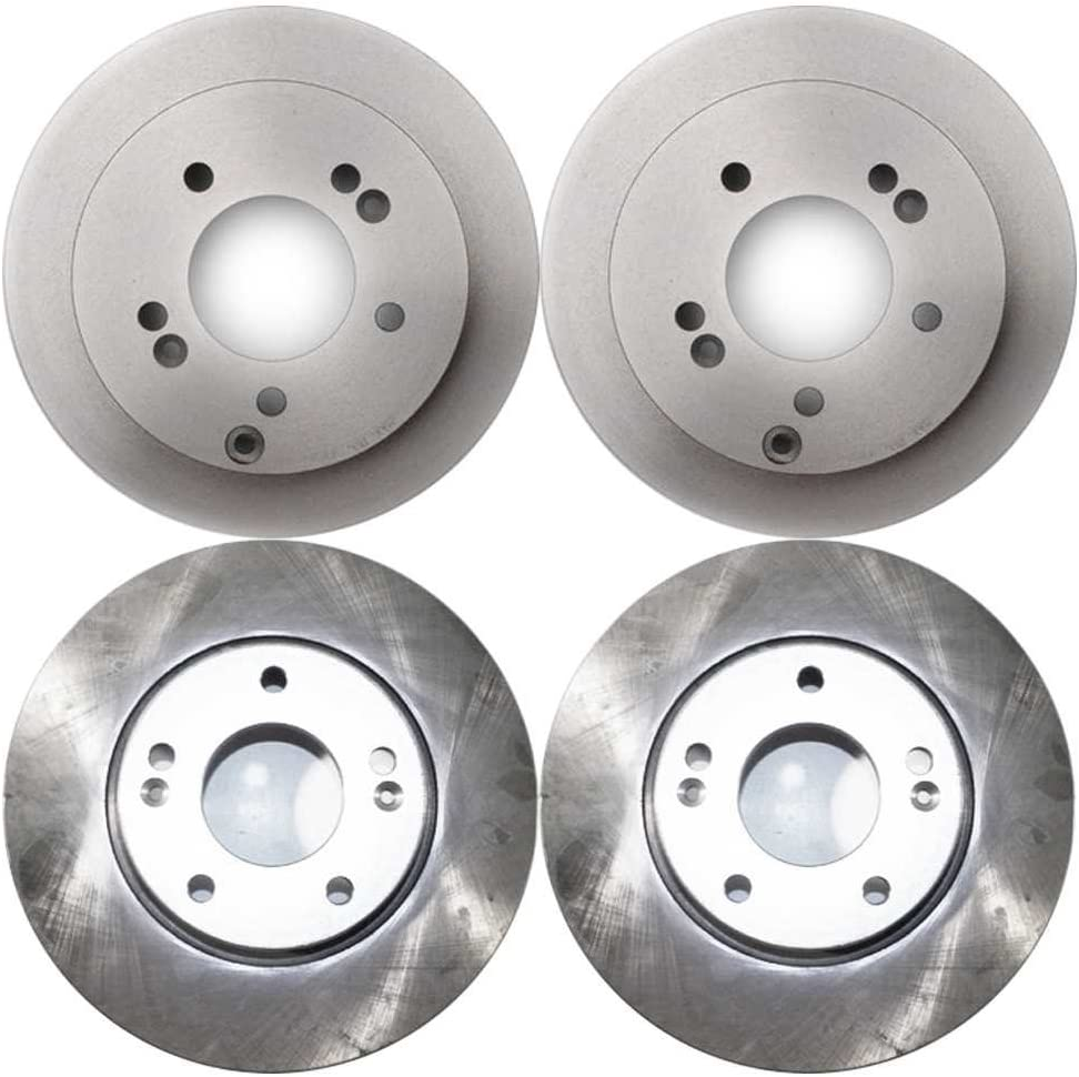 AutoShack R41339R41341 Front and Rear Brake Rotors