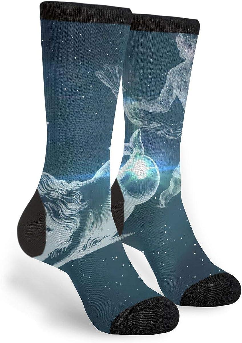 YISHOW Zodiac Signs Funny Crew Socks