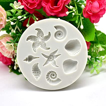 Amazon Com Gotian Diy Sea Creatures Conch Shell Fondant Cake Candy