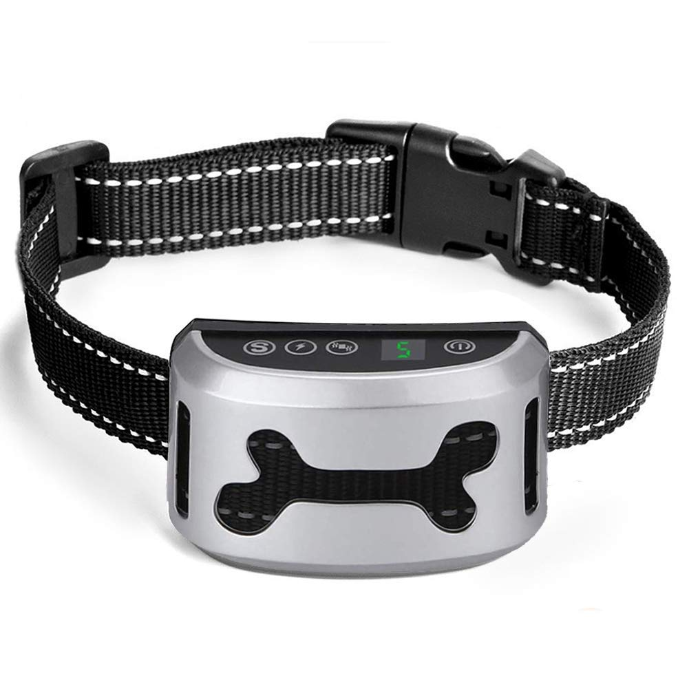 Dog Bark Collar Anti Barking Collar Stop Barking with Beep, Vibration, Harmless Shock, Rechargeable and Waterproof Stop Barking collars for Small Medium and Large Dogs