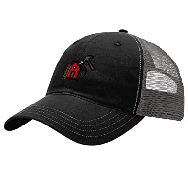 48d4df159faf0 Custom Trucker Hat Richardson Roofing Logo Embroidery Business Name Cotton  Snaps at Amazon Men s Clothing store