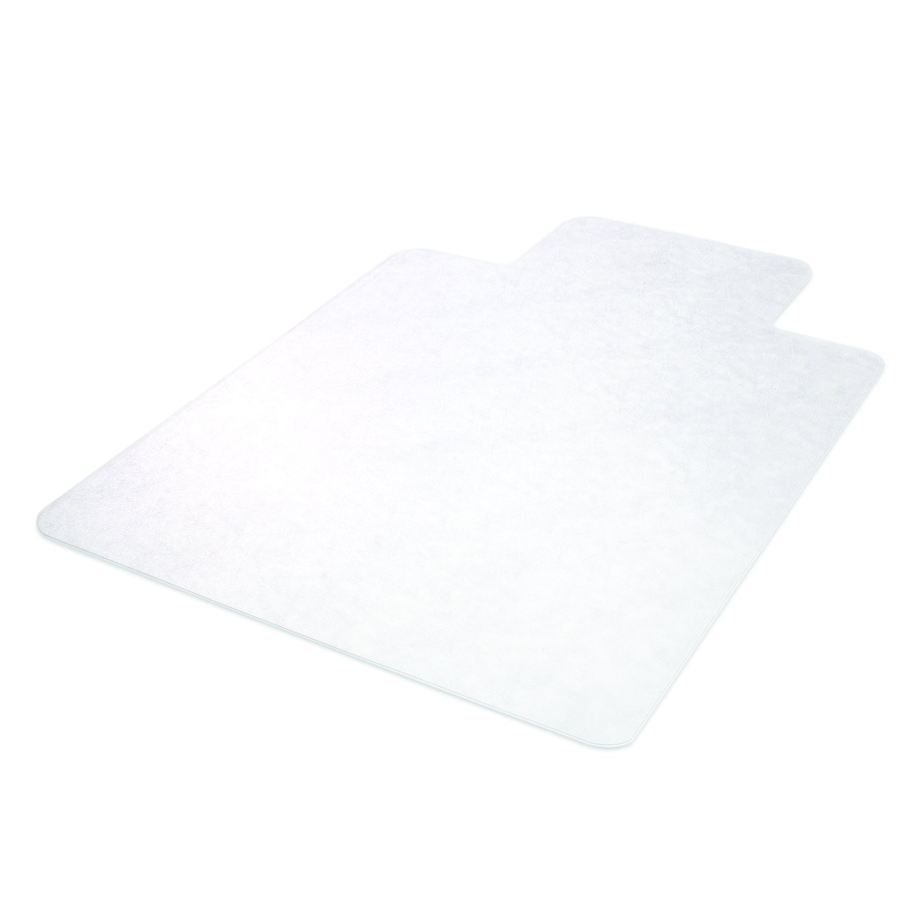 Deflecto SuperMat Clear Chair Mat, Hard Floor Use, Rectangle With Lip, Beveled Edge, 46 x 60 Inches (CM24433F)