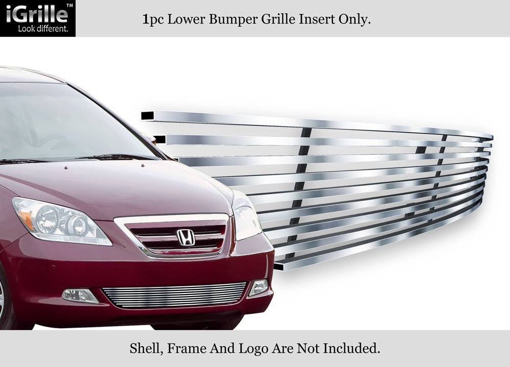 APS Compatible with 05-07 Honda Odyssey Lower Bumper Stainless Steel Billet Grille Insert H67120C