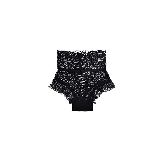 4a8bd8149296 Sunny-Aha Lace Underwear Women High-Waist Thongs and G Strings Straps  Hollow Imitation