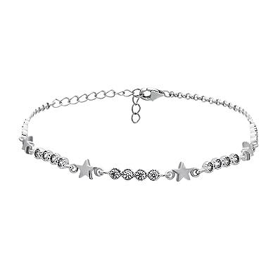 817845b00 925 Sterling Silver Star Bracelet,Simple Silver Bracelet with Stars, Star  Bracelet Tiny Star