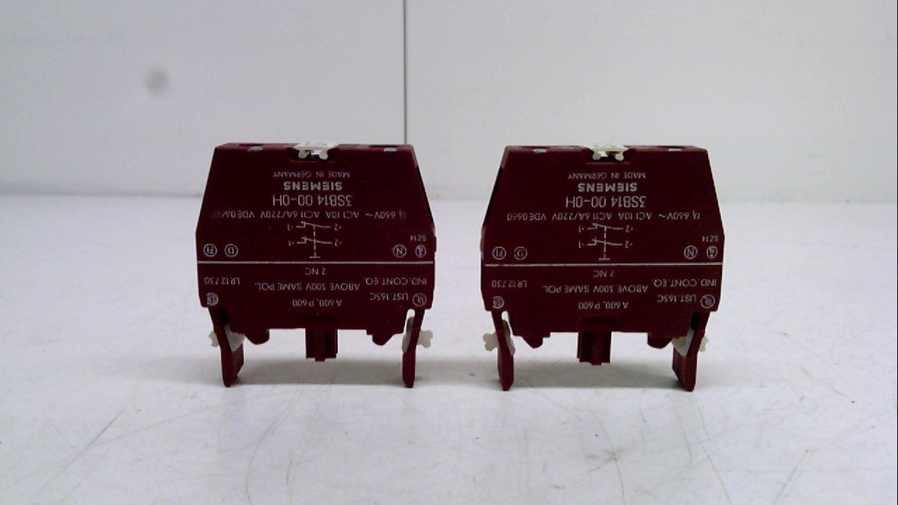 Amazon.com: Siemens 3sb1400 – 0H – Pack de 2 – Bloque de ...