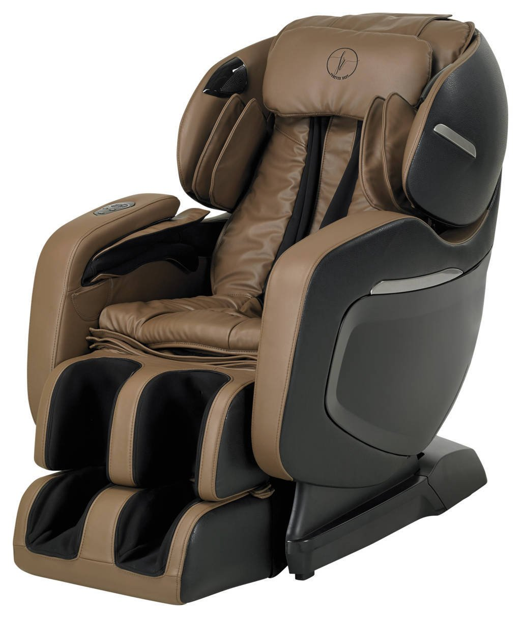 FINALLY ON AMAZON! The 2017 FOREVER REST FR-7Ks PREMIUM L-TRACK SMART MASSAGE CHAIR, TRIPLE FOOT ROLLERS, ZERO GRAVITY, WALL HUGGER, STRETCH AND SWING MODES, BLUETOOTH SPEAKERS. (BLACK / BEIGE CARMEL)