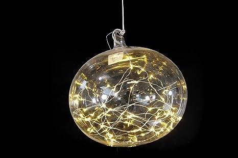 Palla vetro con luci led: amazon.it: illuminazione