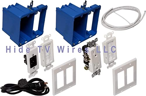 Hide TV Wires Kit in-Wall Power and Cable Management Kit Fast Shipment