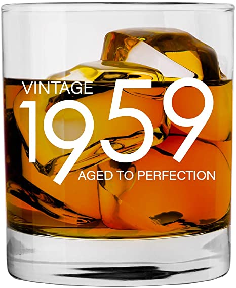 1959 60th Birthday Gifts For Men And Women Whiskey Glass Bourbon Scotch Glasses 60th Bday Gift