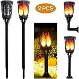ACTOPP Torche Lampe Solaire jardin extérieur LED IP65 imperméable à l'eau pour la décoration de jardin/cour/clôture/sentier/patio/pelouse/allée/fête/Noël