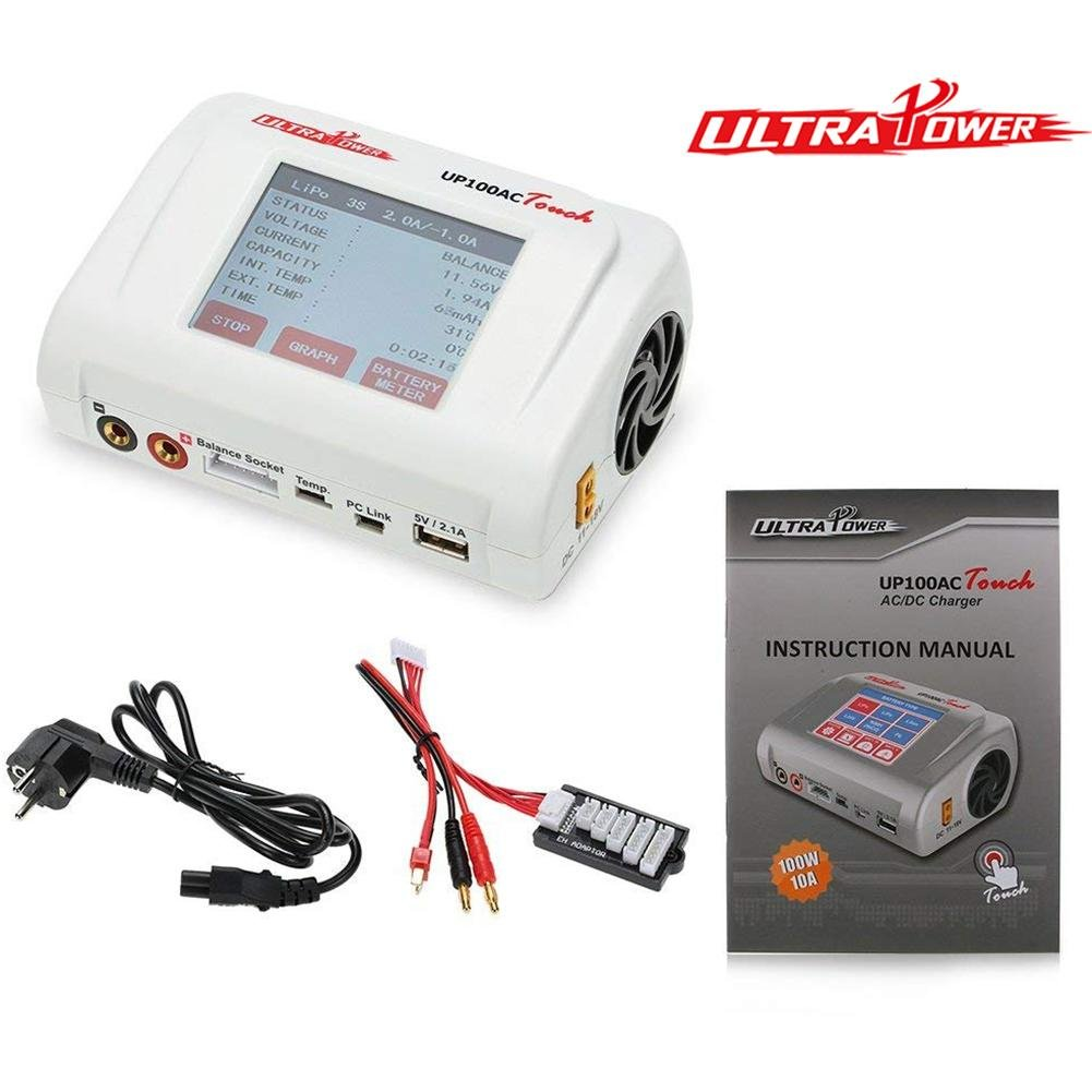 100W UP100AC Touch Balance Charger for LiPo/Life/Lilon/LiHv NiCd/NiMH Battery by Smileyyi