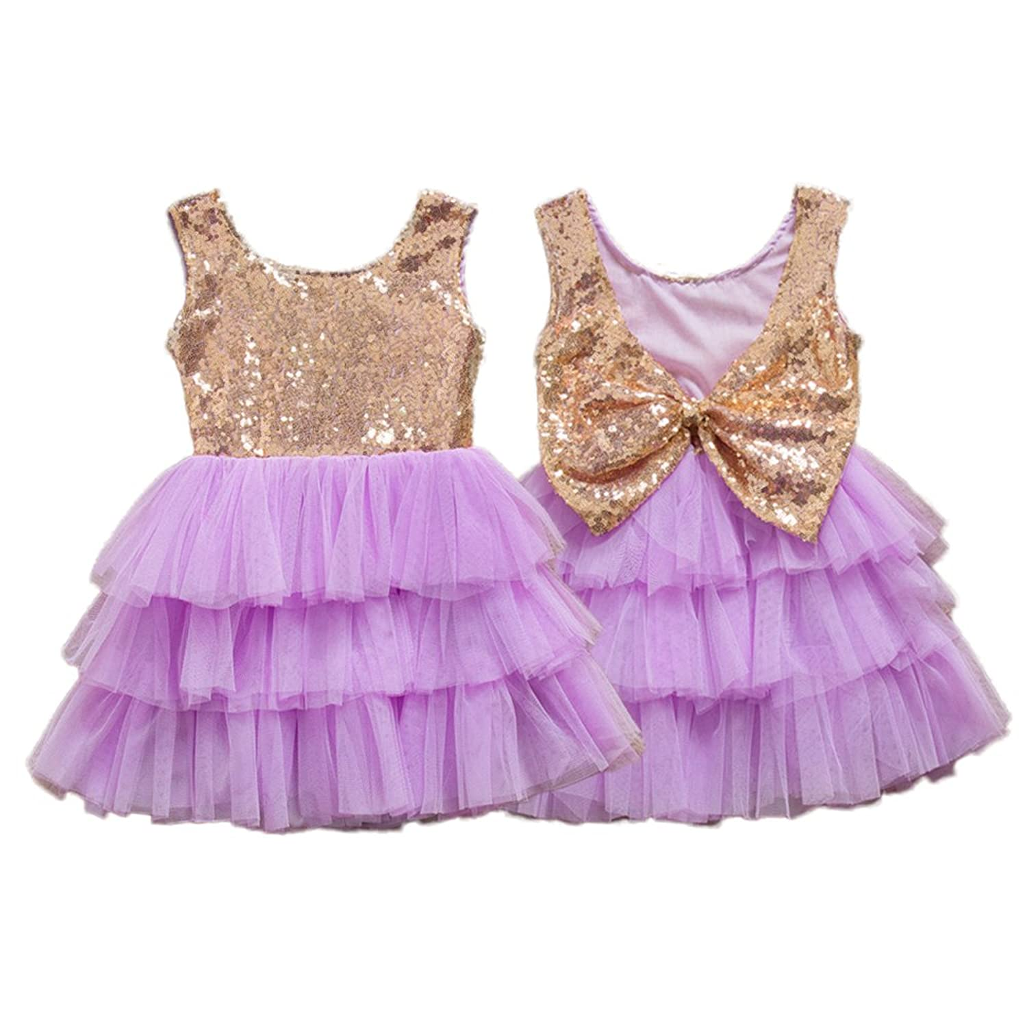 2af335c3f cotton, polyester, sequins. Imported TYPE: Backless, Knee Length,  Sleeveless,Tulle Dress for Little Girls / Toddler Kids DESIGN: Gold Sequins,  Backless with ...