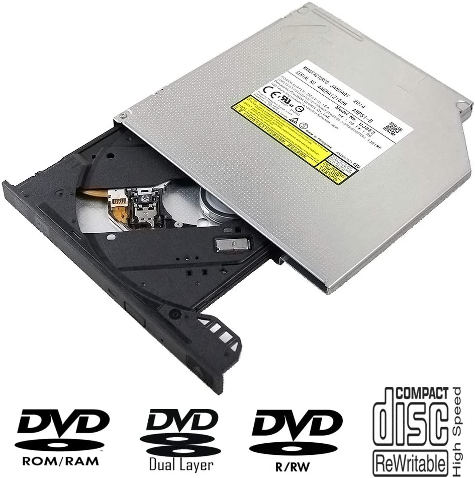 Laptop Internal DVD/CD Player Optical Drive Replacement, for Acer Aspire V5-551 431 471 531 561G 571 571G E1-572G 4820TG 5820TG Notebook PC, Dual Layer 8X DVD+-R DL CD-R Burner