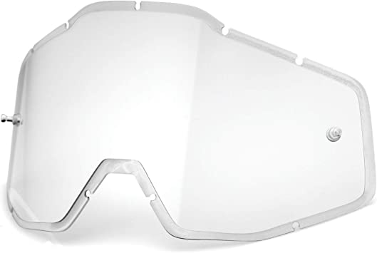 100/% Injected Anti-Fog Goggle Lens w//Posts RACECRAFT//ACCURI//STRATA Blue Mirror