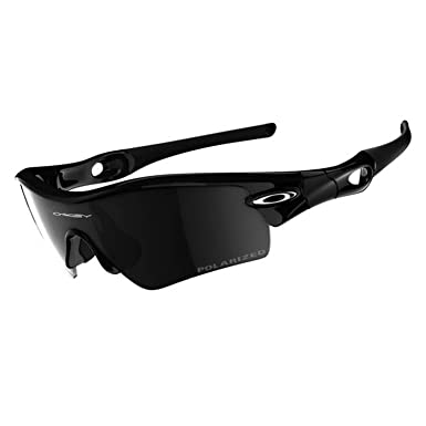 Oakley Men's Radar Path Iridium Polarized Sunglasses,Polished Black  Frame/Black Lens,one