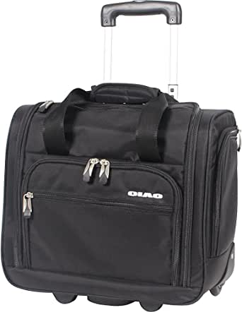 Ciao Luggage - 15 Inch Under Seat Bag - Carry On Suitcase with Spinner Wheels