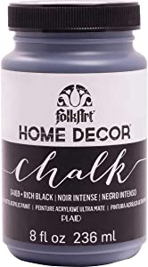 FolkArt Home Decor Chalk Furniture & Craft Paint in Assorted Colors, 8 ounce, Rich Black