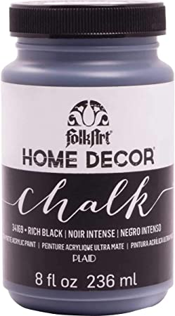 Amazon Com Folkart 34169 Home Decor Chalk Furniture Craft Paint In Assorted Colors 8 Ounce Rich Black