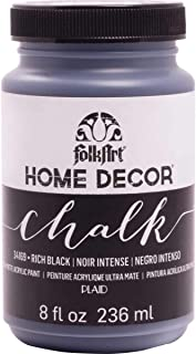 product image for FolkArt Home Decor Chalk Furniture & Craft Paint in Assorted Colors, 8 ounce, Rich Black