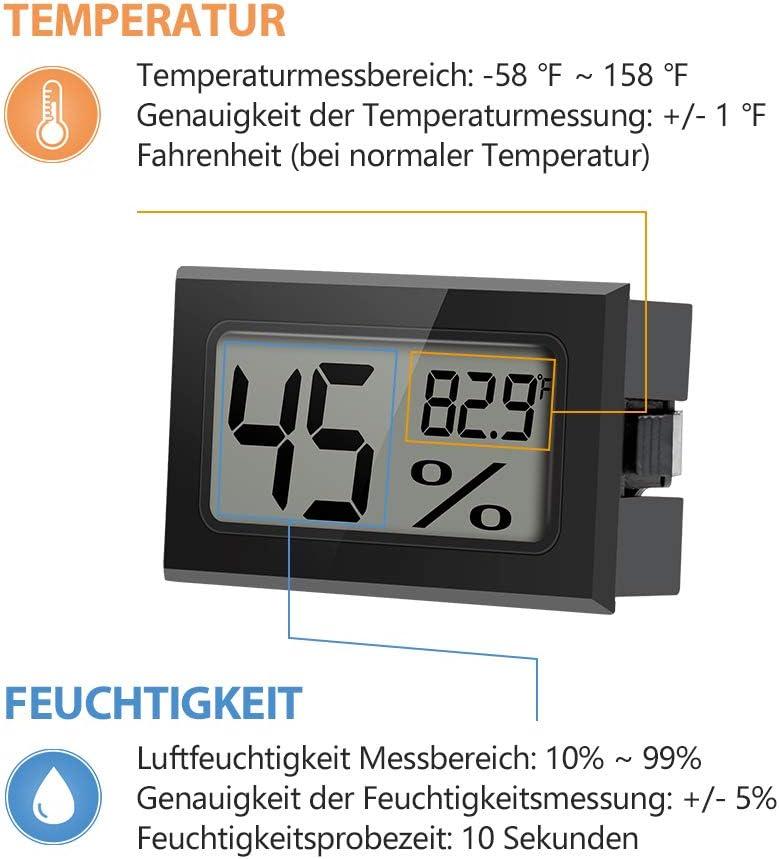 LCD Innenthermometer Hygrometer Zimmerthermometer Luftfeuchte Digital Touch NEU