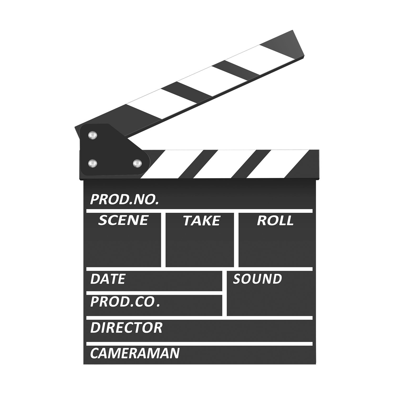 Neewer Professional Wooden Film Movie Clapboard, 7.9 X 7.9 inches/20 X 20 Centimeters Black & White Director Film Slateboard Clapper Board for Movie Scene Production Decoration Prop