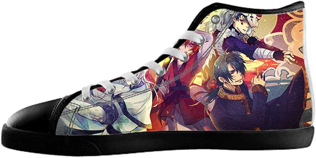 Women's Anime Style DIY Canvas Shoes Black1 g4j4I5
