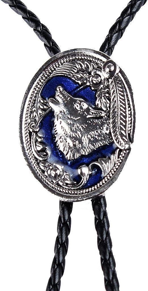 LoveinDIY Vintage Wolf Pattern Bolo Ties Western Cowboy Tuxedo Bola Tie Wedding Gifts