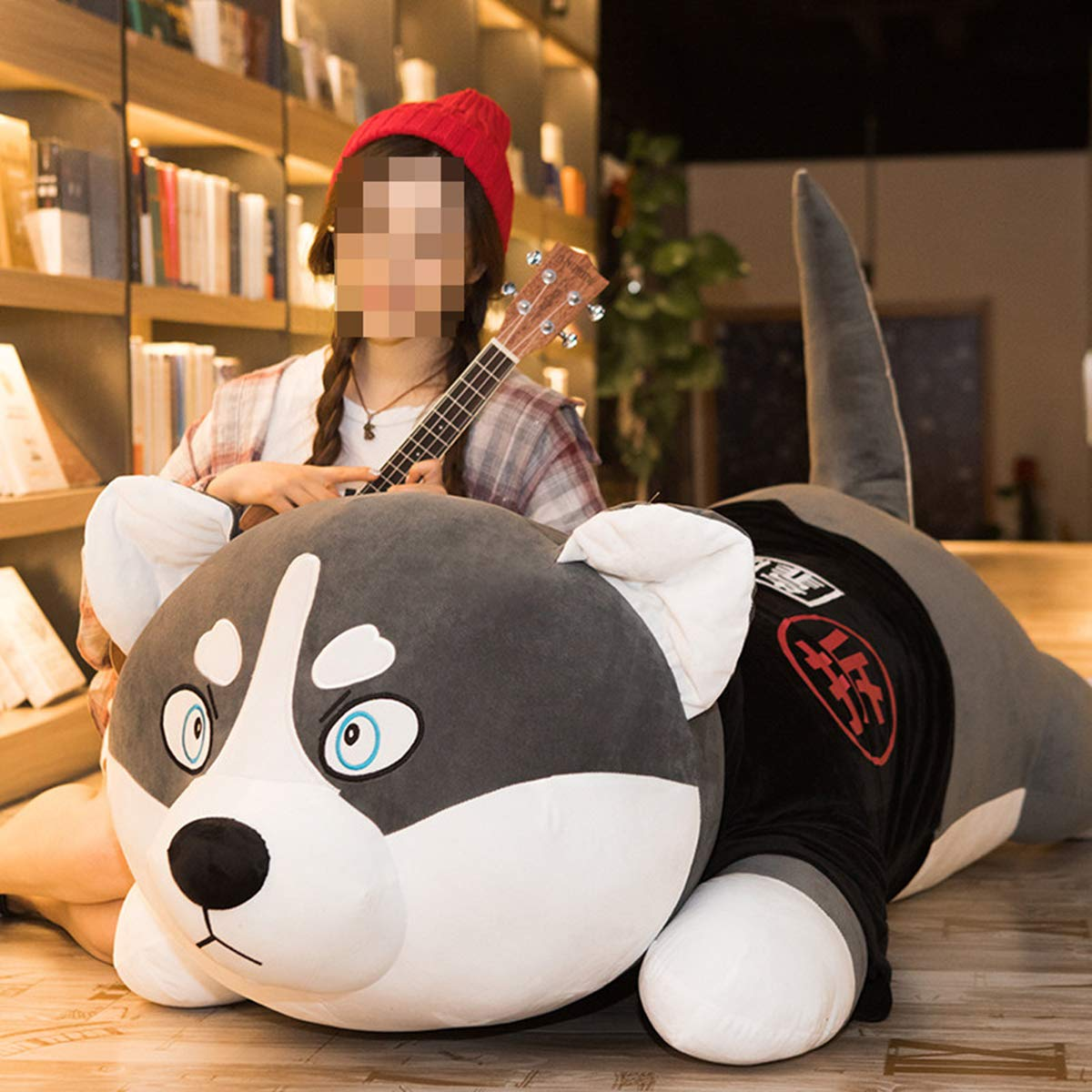 2 80cm Boy and Girl Soft Siberian Husky Boy Toy Dog Sleeping Pillow Holiday Gift Birthday Present
